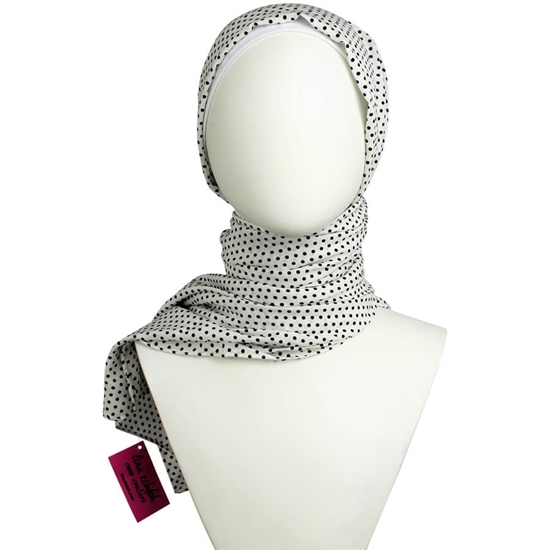 Picture of Classic Polka Dots Rayon Hijab