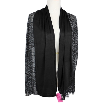 Picture of Kuwaiti Double Border  & Lace Black Hijab