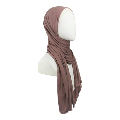 Picture of Kuwaiti Everyday Brown Cotton Jersey Hijab