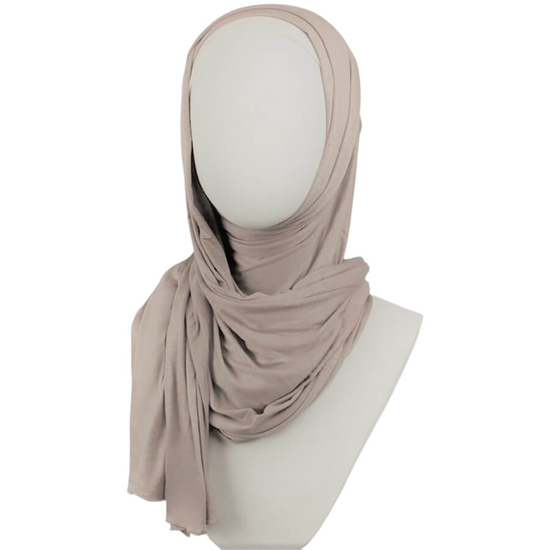 Picture of Kuwaiti Light Cafe Latte Cotton Jersey Hijab
