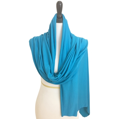 Picture of Cotton Jersey Hijab - Blue-