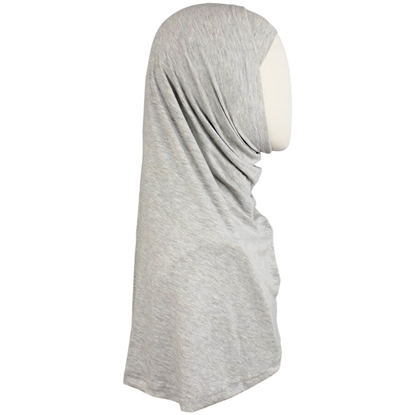 Picture of Heather Grey Cotton Jersey Two-Piece Amira - Medium  Size &  Longer Tube Cap