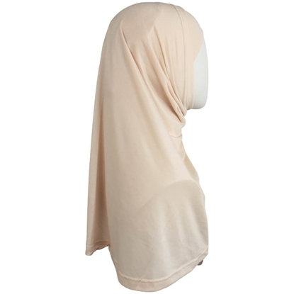 Picture of Neutral Blush Cotton  Spandex Two-Piece Amira - Medium  Size &  Longer Tube Cap