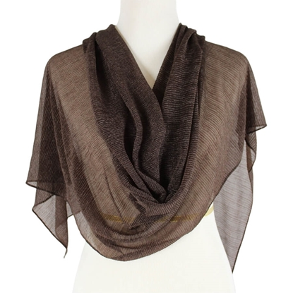 Picture of Kuwaiti Chocolote Brown Plissé Chiffon  Hijab