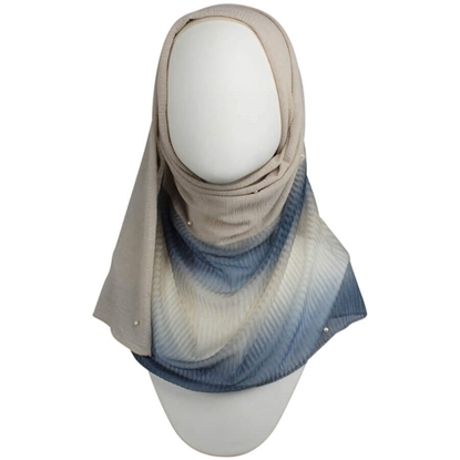 Picture of A Multi-Tasker Kuwaiti  Neutral Blue Hijab!