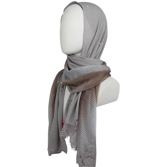 Picture of A Multi-Tasker Kuwaiti  Gre-ish Neutral Hijab!