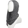 Picture of Kuwaiti Charcoal Grey Plissé Chiffon  Hijab