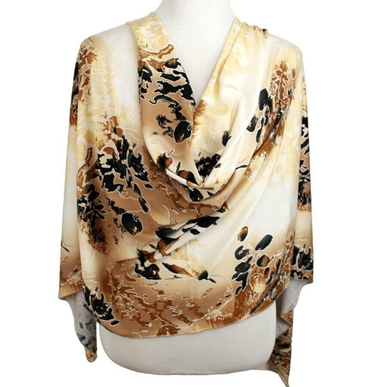 Picture of Vibrant Fall Patterned Jersey Hijab