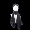 black hijabs