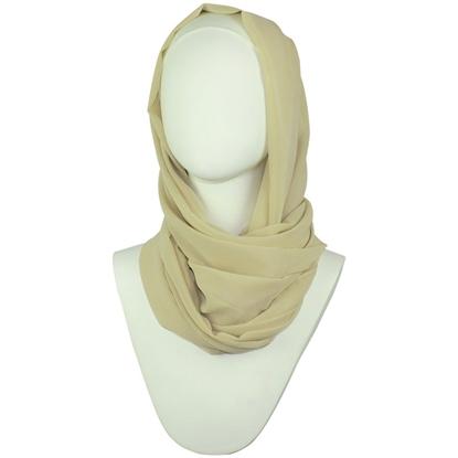 neutral chiffon hijabs