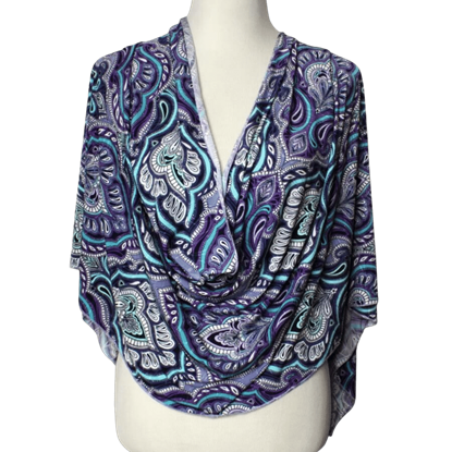 """Picture of Pastel Damascus Print Buttery Patterned Jersey Hijab  - Soft & Cool """"Zibde Feel"""""""