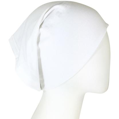 white hijab cap