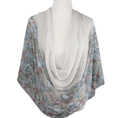 Picture of Print & Solid Chiffon Hijab